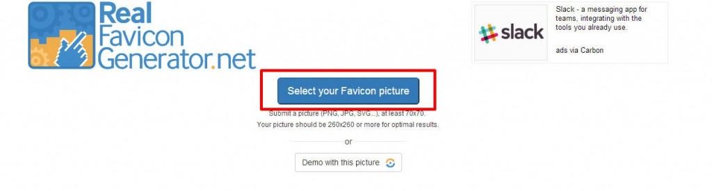 Favicon by RealFaviconGenerator の設定
